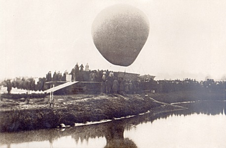 Воздушный шар «Русский», на котором Д.И. Менделеев совершил полет для наблюдения солнечного затмения.